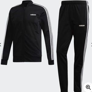 Adidas Originals Black & White Men's 3-Stripe Suit